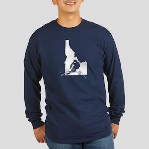 Ski Idaho Long Sleeve Dark T-Shirt