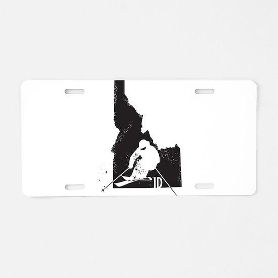 Ski Idaho Aluminum License Plate