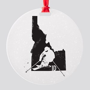 Ski Idaho Round Ornament