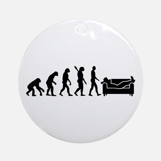 Evolution couch Round Ornament