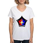 USS Mars (AFS 1) Women's V-Neck T-Shirt
