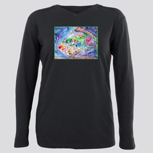 Tropical Fish! Colorful art! Plus Size Long Sleeve