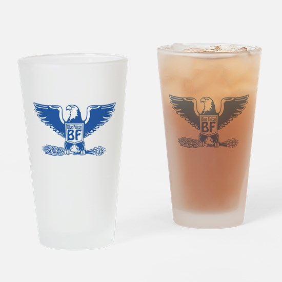 Blue Falcon Drinking Glass