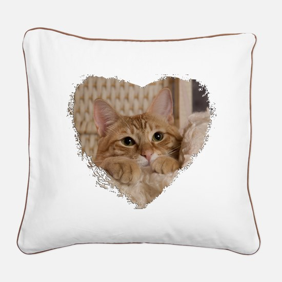 Loki In Basket 3 Square Canvas Pillow