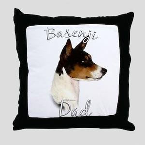Basenji Dad2 Throw Pillow
