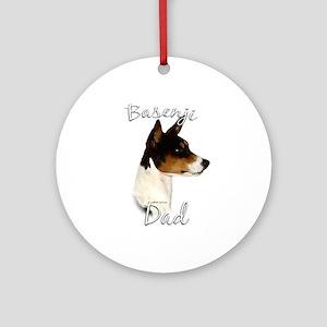 Basenji Dad2 Ornament (Round)