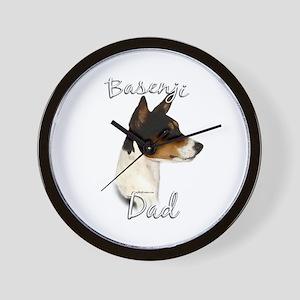 Basenji Dad2 Wall Clock