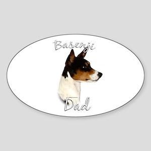 Basenji Dad2 Oval Sticker