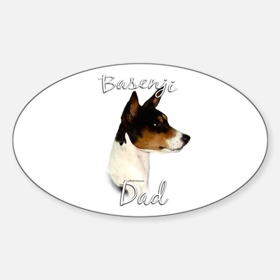 Basenji Dad2 Oval Decal
