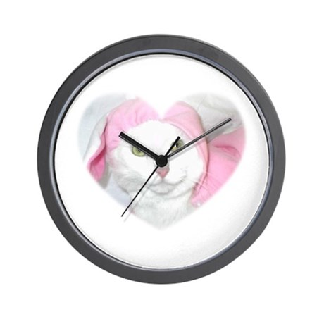 The Easter Kitty Wall Clock