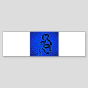 Blue Snake Bumper Sticker