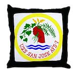 USS San Jose (AFS 7) Throw Pillow