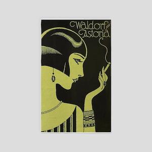 Waldorf Astoria, Flapper, Vintage Poster Area Rug