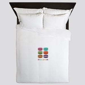 Colorful Macarons Queen Duvet