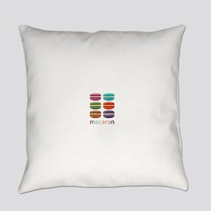 Colorful Macarons Everyday Pillow