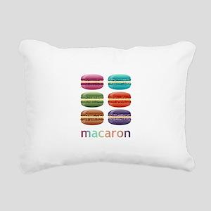 Colorful Macarons Rectangular Canvas Pillow