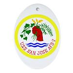USS San Jose (AFS 7) Oval Ornament