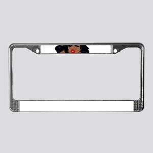 african pin up License Plate Frame