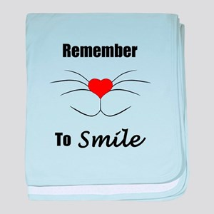 Remember To Smile baby blanket