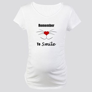 Remember To Smile Maternity T-Shirt