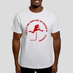 HURDLES - PHIL.4:13 Light T-Shirt
