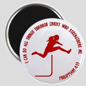 HURDLES - PHIL.4:13 Magnet