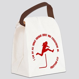 HURDLES - PHIL.4:13 Canvas Lunch Bag