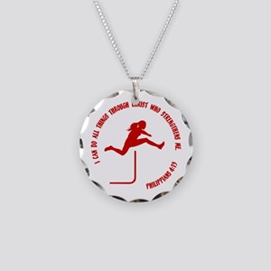HURDLES - PHIL.4:13 Necklace Circle Charm