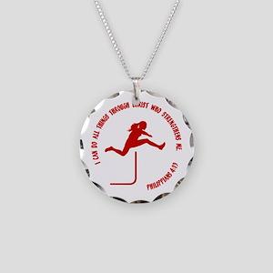 HURDLES - PHIL.4:13 Necklace Circle Charm