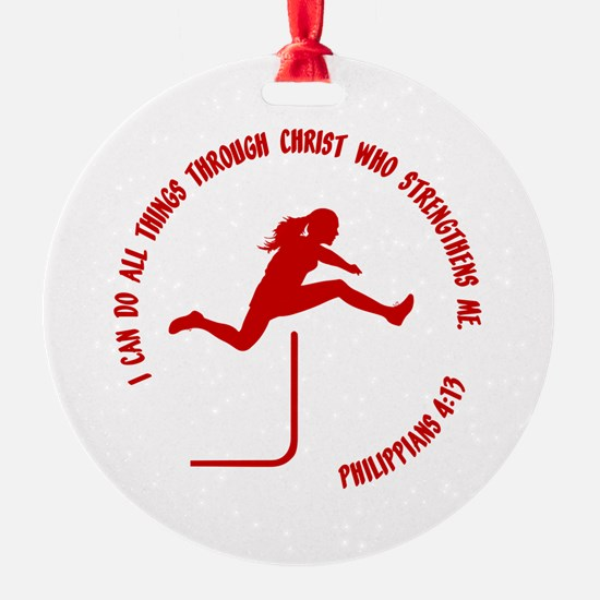 HURDLES - PHIL.4:13 Ornament