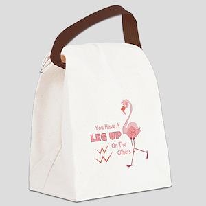 A Leg Up Canvas Lunch Bag