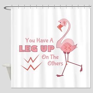 A Leg Up Shower Curtain