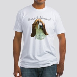 Basset Dad2 Fitted T-Shirt