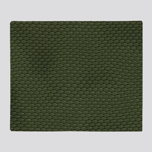 GREEN REPTILE SKIN Throw Blanket