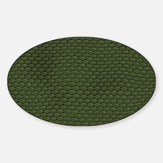 GREEN REPTILE SKIN Sticker (Oval)