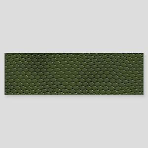 GREEN REPTILE SKIN Sticker (Bumper)