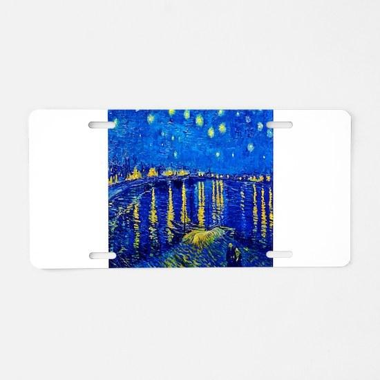 Van Gogh Starry Night Over Rhone Aluminum License