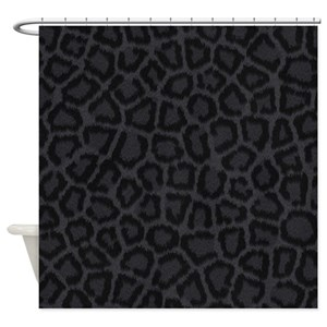 Black And Grey Print Shower Curtains
