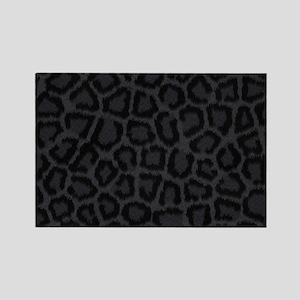 BLACK LEOPARD PRINT Rectangle Magnet