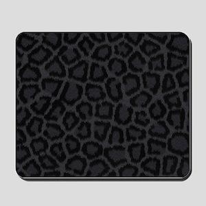 BLACK LEOPARD PRINT Mousepad