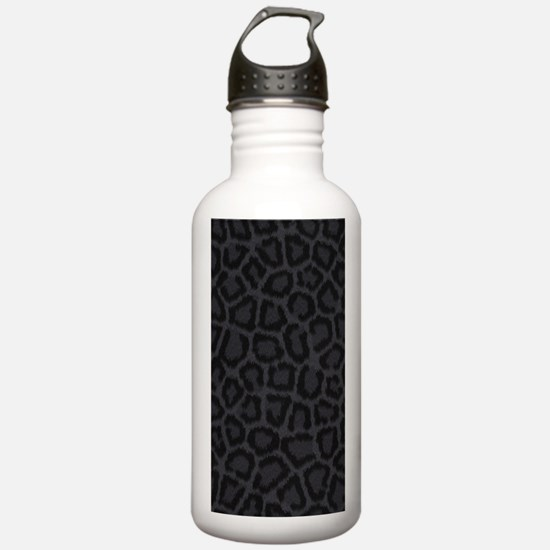 BLACK LEOPARD PRINT Water Bottle