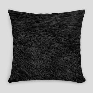 BLACK CAT FUR Everyday Pillow