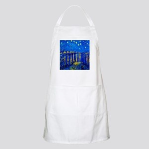 Van Gogh Starry Night Over Rhone Light Apron