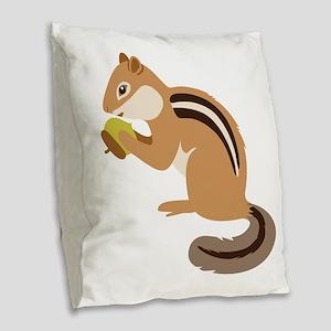 Chipmunk Burlap Throw Pillow