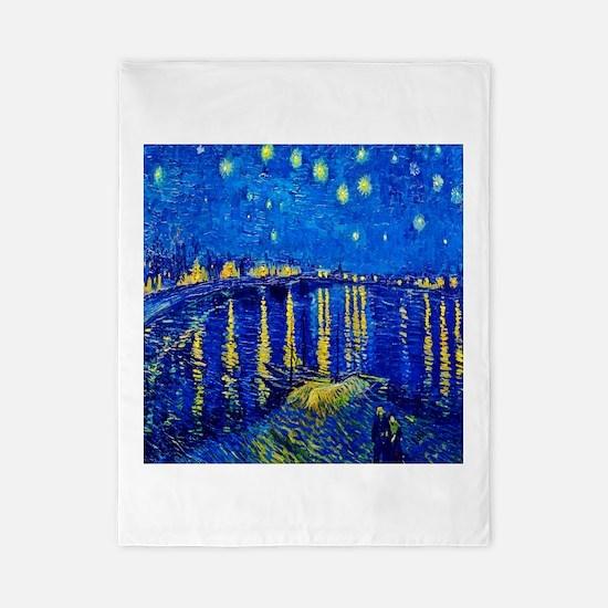 Van Gogh Starry Night Over Rhone Twin Duvet Cover