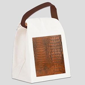 ALLIGATOR SKIN Canvas Lunch Bag