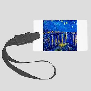 Van Gogh Starry Night Over Rhone Luggage Tag