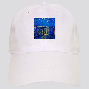 Van Gogh Starry Night Over Rhone Baseball Cap