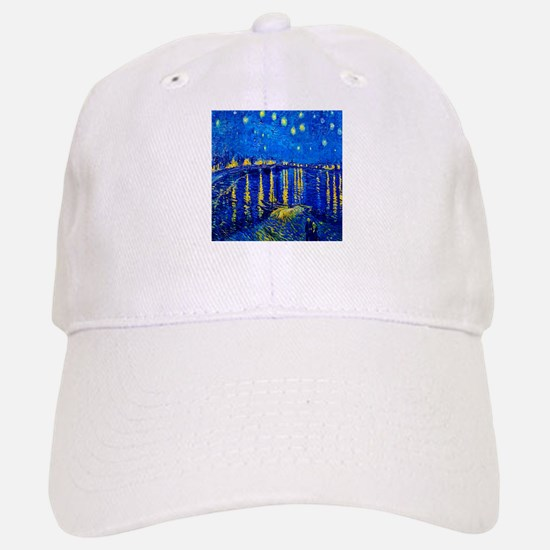 Van Gogh Starry Night Over Rhone Baseball Baseball Baseball Cap