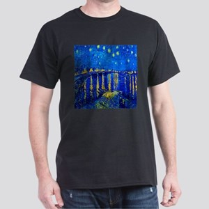 Van Gogh Starry Night Over Rhone T-Shirt